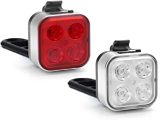 Akale USB Rechargeable Bike Light Set,Super Bright LED Bicycle Lights Front and Rear, 4 Light...
