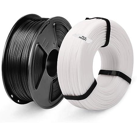 SUNLU PETG Filament 1.75mm PETG 3D Printer Filament PETG MasterSpool Filament 2KG PETG Black+Red