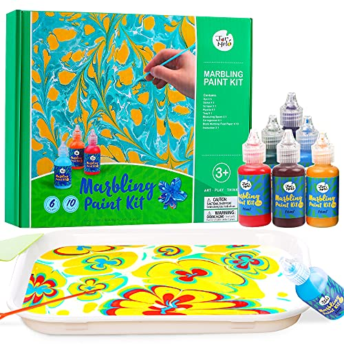 Jar Melo Water Marbling Paint Kit for Kids; 6 Colors, Marble Kit,Non-Toxic;...