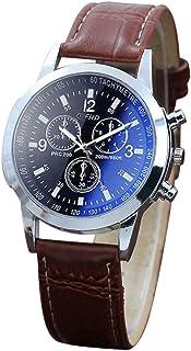 Bokeley Big Watches! Men's Belt Sport Quartz Hour Wrist Analog Watch (D)