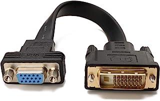 CableDeconn Activo DVI-D Dual Link 24 + 1 Macho a VGA Macho de vídeo con Soporte de Cable Adaptador convertidor