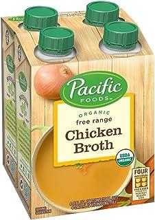Pacific Foods Organic Free Range Chicken Broth, 8oz, 24-pack Keto Friendly