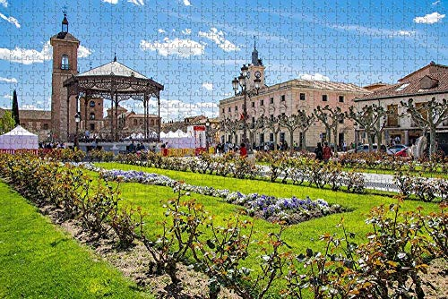 España Palacio Arzobispal Alcala de Henares Rompecabezas para Adultos Rompecabezas de Madera de 1000 Piezas para Adultos