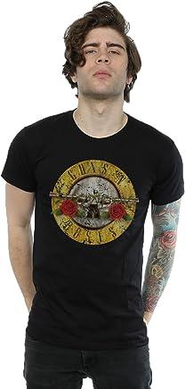 Guns N Roses Hombre Vintage Bullet Logo Camiseta