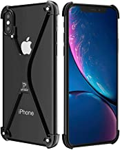 OATSBASF Bumper Case for iPhone X/iPhone Xs, Slim Thin X-Frame Metal Case with Soft EVA Inner, Shock Absorption Edge Protectors Support Wireless Charging