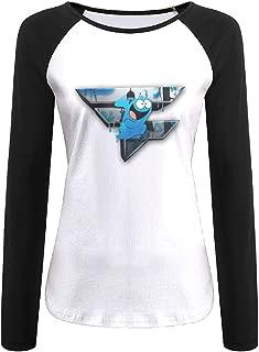 Womens Funny Faze Rain Logo Long Sleeve Raglan Baseball Tshirt