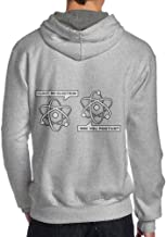 I Lost an Electron are You Positive Back Print Long Sleeve Hoody for Men