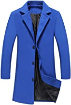 Little Adam Winter Men Solid Color Single Breasted Long Trench Coat/Men Casual Slim Long Woolen Cloth Coat Large Size 5XL