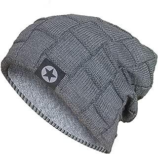 Acexy Wintermütze Herren Damen Warme Knit Mütze Gehäkelte Slouchy Wollmütze Slouchy Caps Unisex Beanie Wintermütze