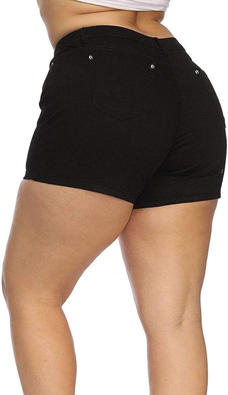 1826 Women's Premium Plus Size Dark Blue/Black Denim Jeans Short Stretch Ps-481