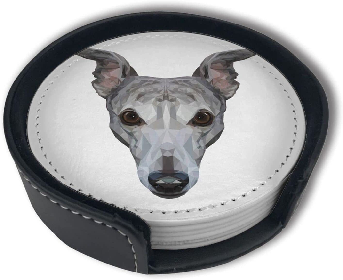 Cool Popular shop is the lowest price challenge Whippet Head Coasters for with 40% OFF Cheap Sale Funn Holder Drinks Absorbent