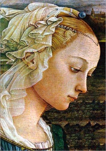 Posterlounge Lienzo 70 x 90 cm: Madonna (Detail) de Sandro Botticelli - Cuadro Terminado, Cuadro sobre Bastidor, lámina terminada sobre Lienzo auténtico, impresión en Lienzo