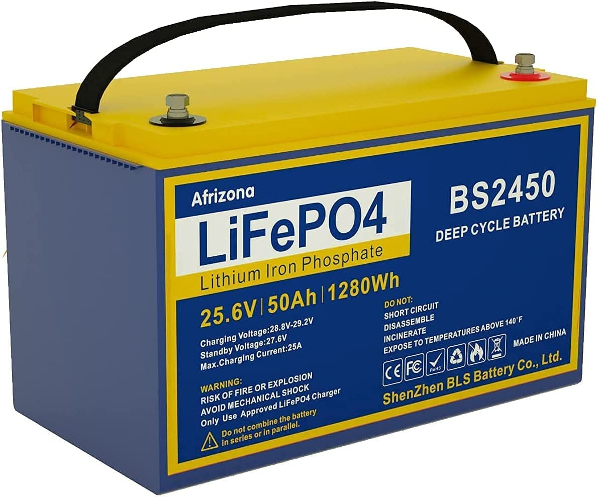 Lithium Deep Cycle Ranking TOP19 Battery 24 Rechargeable Volt Mar Max 44% OFF 50AH