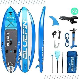 comprar comparacion Paddle Surf Sup Voyage de Bluefin | Tabla de Paddle Surf Hinchable 10'10 | Estabilizadores Integrados | Plataforma Extra A...