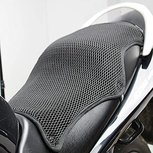 Housse de siège de moto, isolation thermique, coussin de protection solaire 3D respirant, tapis de protection pour si...