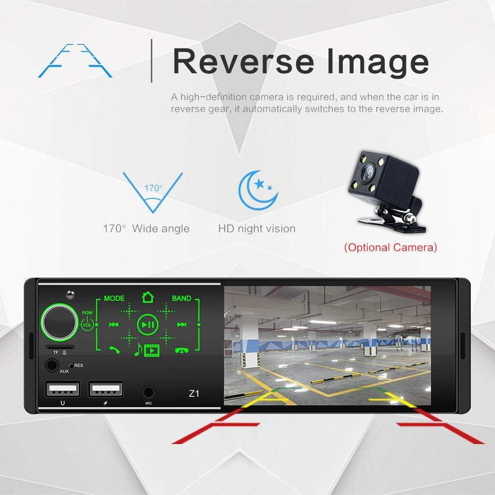 1 Din Autoradio MP5 Stereo-Player 4,1-Zoll-Touchscreen Dual USB ...
