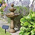 Smart Garden Solar Kingsbury 3 Tier Garden Water Feature Fountain Bird Bath by Smart Garden