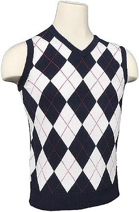 Women s Argyle Golf Sweater Vest - White Navy Red Overstitch 44b265f79