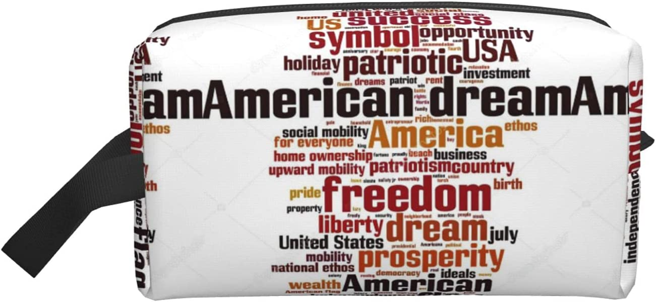 American Dream Word Small Indefinitely Multifunction Elegant Roomy M Cosmetic Ranking TOP10