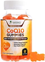 CoQ10 Gummies - Peach Gummy Vitamins with High Absorption Coenzyme Q10 100mg - Natural Antioxidant Dietary Supplement for Heart Health Support - 60 Gummies