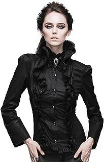 Devil Fashion Weibliches Gotisches Steampunk H?hle Lichtdurchl?ssiges Kappa Langes H/¨/¹lsen Schwarz Kap