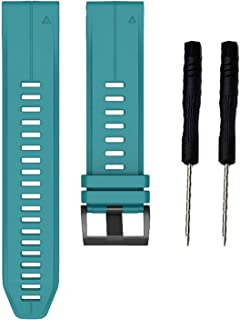 KHZBS Fenix 5 Plus Smart Wristband Replacement for Garmin Fenix 5/Fenix 6/ Forerunner 935/Approach S60/ Quatix 5 Strap 22mm Quick Fit Soft Silicone Band
