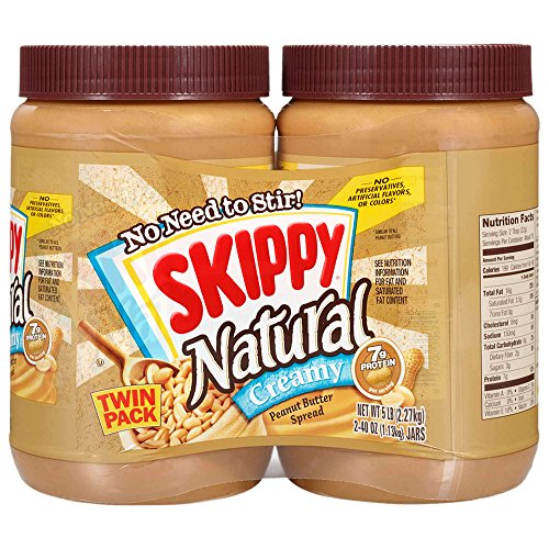 SKIPPY Creamy Natural Peanut Butter 40 Ounce Twin Pack