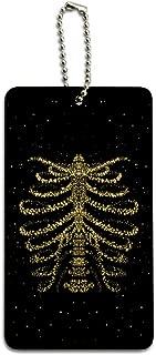 Rib Cage Skeleton Bones Stars Galaxy Wood Luggage Card Suitcase Carry-On ID Tag