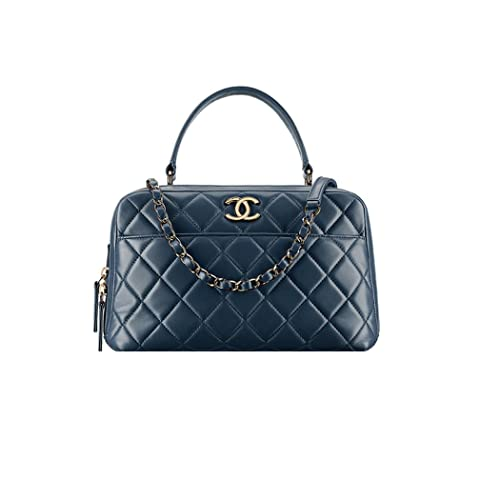 45a4fd95c065 Authentic Chanel Bowling Bag Blue Item A92238 Y60767 2B561 Made in France