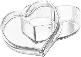 Solly´s Clara Acrylic Heart Box Jewelry & Cosmetic Storage or Gift Box - Clear