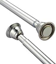 Ausziehbare Gardinenstange Geb/ürstetes Nickel MUHOO Duschvorhangstange ohne Bohren 70 bis 120 cm Teleskopstange Garderobe Klemmstange f/ür Gardinen