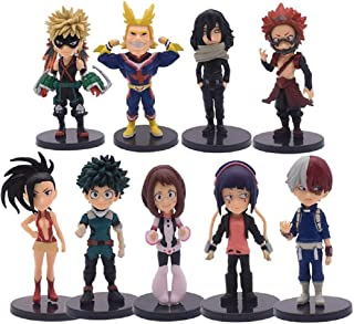 My Hero Academia Anime Figure Set – 9Pcs Birthday Cake Topper Set for Kids – Premium Birthday Cake Decorations for Parties...