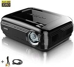 Proyector Full HD 1080P, LESHP Proyectores 3200 Lúmenes Portátil Proyectores LED Projector LCD Cine Casero 1280×1920 para PC Portátil, TV, Hogar, Experiencia de Cine (Negro)