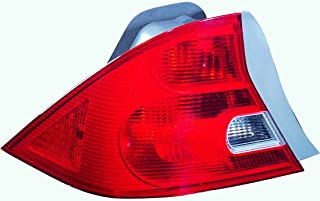 Tail Light Assembly For Honda Civic Coupe Driver Left Side 2001 2002 2003 Taillamp HO2800134C