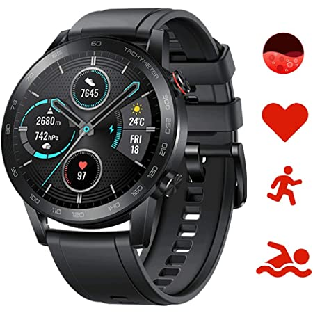 Honor Magic Watch 2 Smartwatch,GPS 5ATM Impermeabile Orologio Bluetooth Smart Monitor di Frequenza Cardiaca, Stress e Spo2,Smart Watch Donne Uomo, per Android (Nero 46mm)