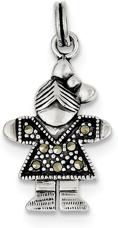 Diamond2Deal 925 Sterling Silver Girl Pendant