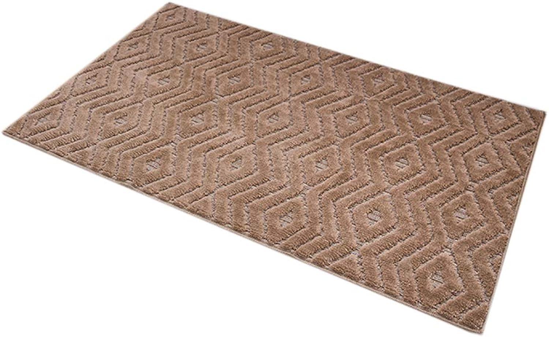 Door mat,Kitchen Rug Non Slip Door mat Living Room Bedroom Bathroom Floor mat Low Profile Door mats-Linen color 70x140cm(28x55inch)