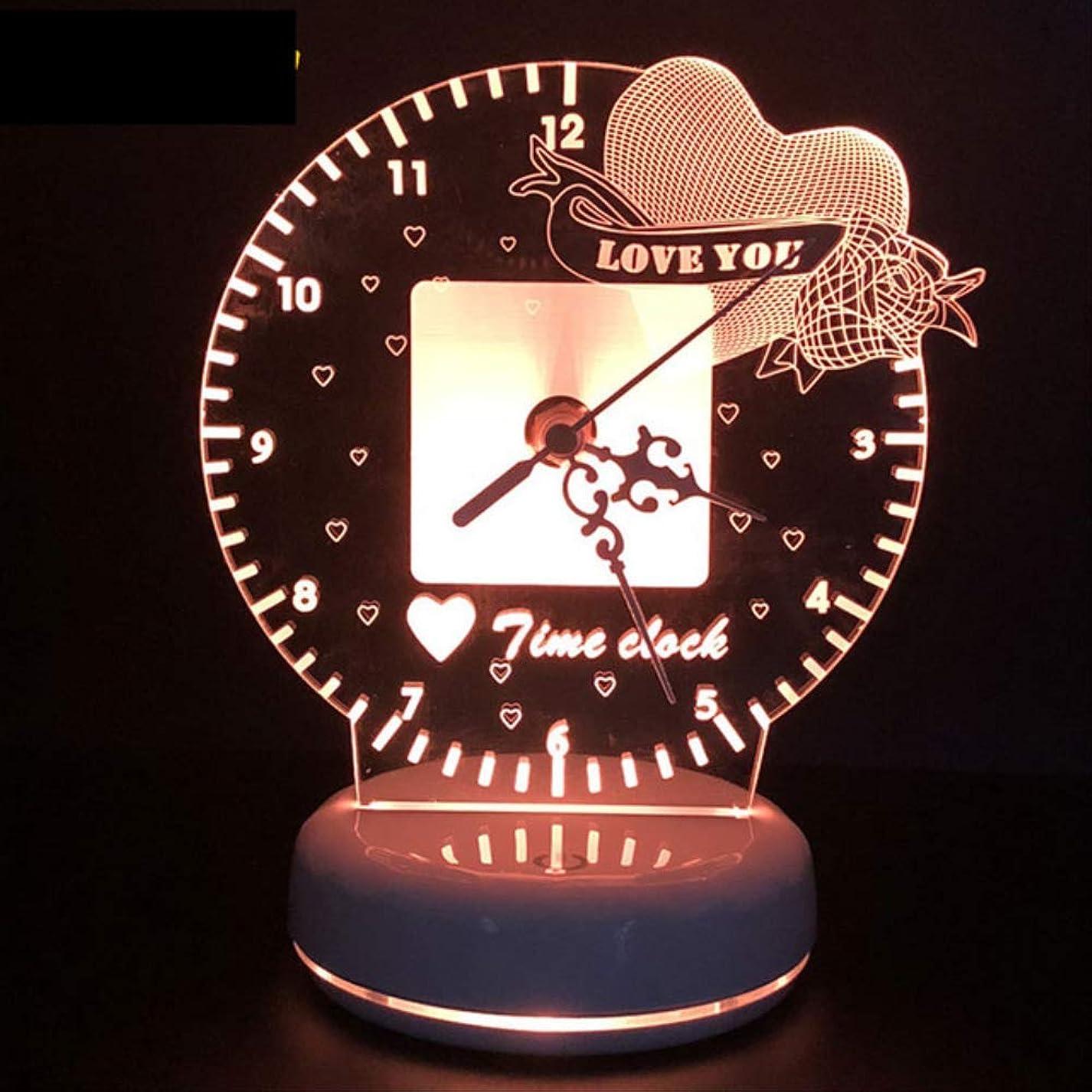 魅了する想像する女性時計はナイトライトリモコンとタッチスイッチコンソールライトホームデコレーション照明をリモートなしで導きました