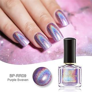 Esmalte de uñas de Born Pretty con purpurina y efecto holográfico (6 ml)