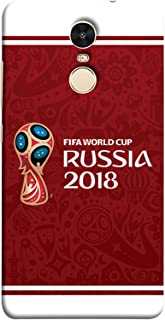 Colorking Xiaomi Redmi Note 4 Football Red Case Shell Cover - Fifa Cup 10