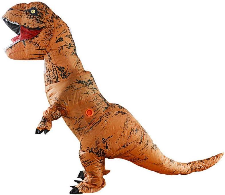 YChoice365 Disfraz De Dinosaurio, Disfraz Inflable De T-Rex, Disfraces Inflables De Tiranosaurio, Disfraz De Dinosaurio Rex, Disfraz De Dinosaurio Unisex para Adultos Y Niños