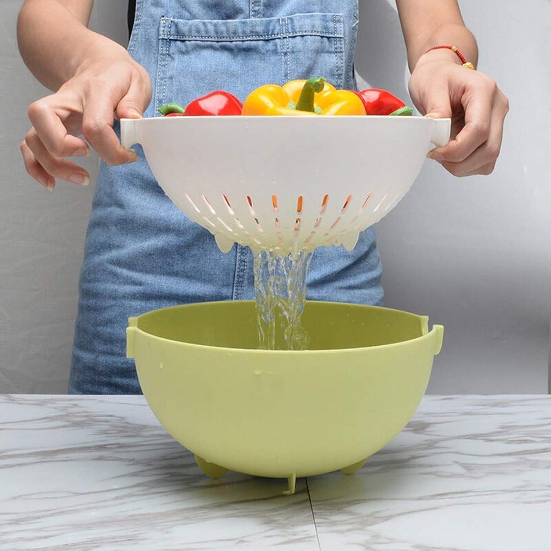 KISlink Panier de Fruits, Bols de Fruits, Drain rougeatif, Assiette de Fruits séchés Parfait Le décor de Cuisine