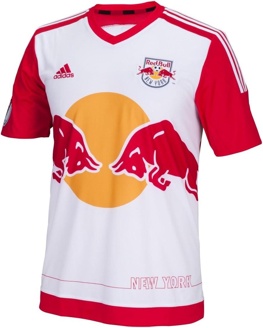 Amazon.com : adidas MLS NY Red Bull Jersey [White] : Sports & Outdoors