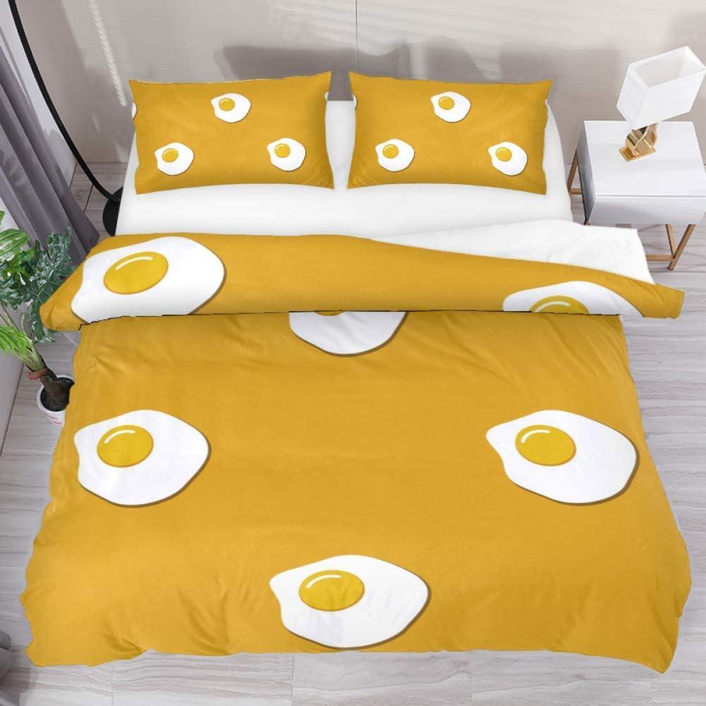 Max 89% OFF Bedding Set Fried Egg Pattern 79