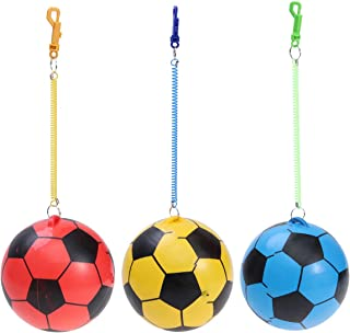 NUOBESTY 3pcs Pelotas hinchables de fútbol con Cadenas de Juguete Inflable de Pelota para niños pequeños Que juegan Entrenamiento (Color Aleatorio) 25cm