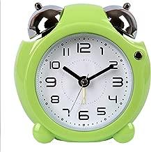 ナイトライト電子目覚まし時計かわいいクリエイティブかわいい怠惰なベッドサイドデスクスヌーズミュートメカニカルベル多色オプション10.6CM * 5.5CM * 10.5CM CHENGYI (Color : Green)