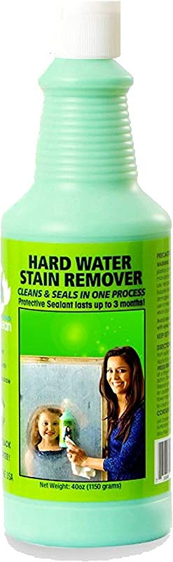 Bio Clean Eco Friendly Hard Water Stain Remover 20oz Large Our Professional Cleaner Removes Tuff Water Stains From Shower Doors Windshields Windows Chrome Tiles Toilets Granite Steel E T C