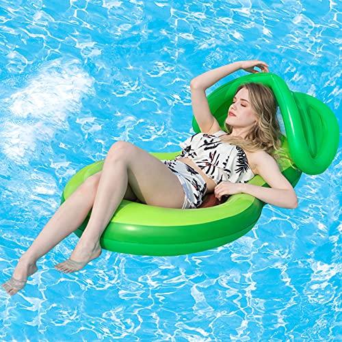 Luchild Hamaca de Agua Inflable,Cama Flotante de Agua,Colchoneta Piscina Tumbona Flotante Portátil,4 en 1 cama flotante playa para adultos y niños, con toldo.