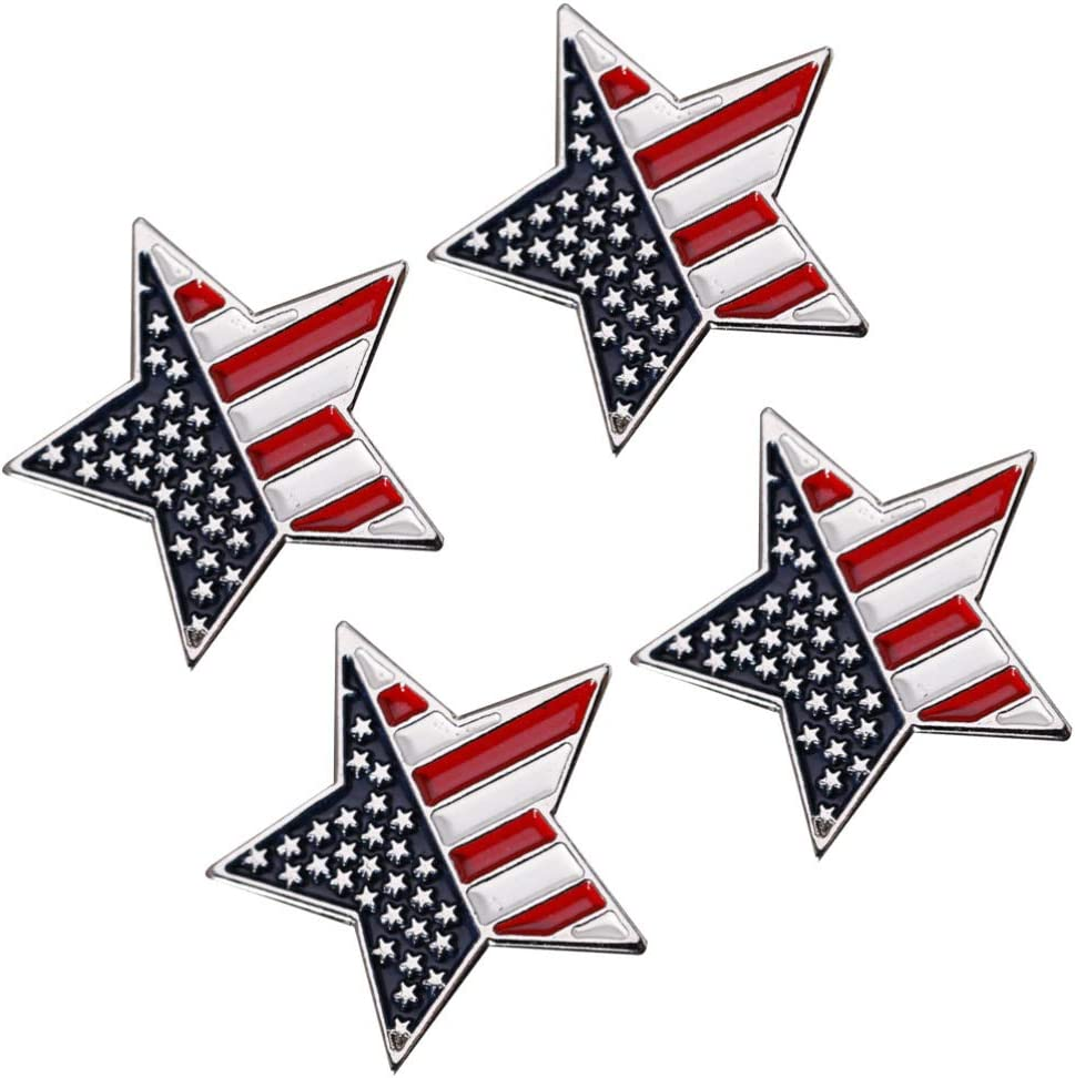 In a popularity BESTOYARD 4pcs 4th of 5 ☆ very popular July American Fla Brooch Pin Star USA Flag
