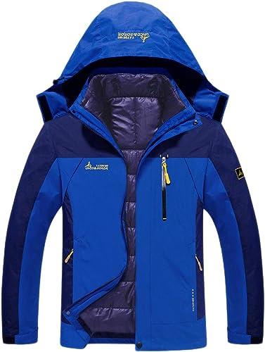 VêteHommests Pour Hommes Veste De Montagne Vestes De Randonnée En Plein Air Manteau De Snowboard Manteau D'alpinisme Manteaux Chauds 3 En 1